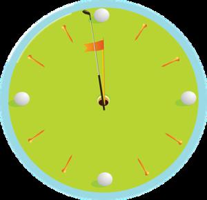 ゴルフは半日で終わるイメージデザイン
