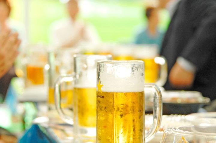 北海道札幌市の夏のイベントで大通公園で開催されるビアガーデンのビール