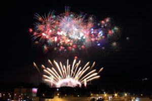 北海道札幌市で開催される真駒内花火大会の写真