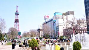 北海道札幌市の大通公園で「噴水」の写真